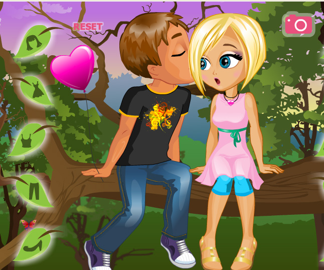 A Kiss on a Tree game online. Screen Shot 1