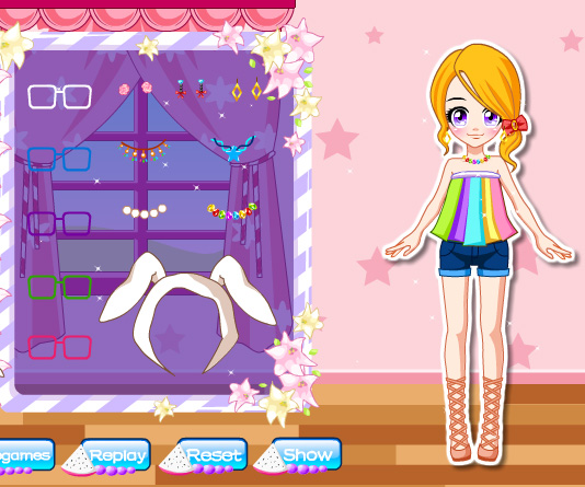 Adorable Girl Next Door game online. Screen Shot 2