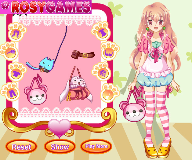 flirting games anime girls free online game