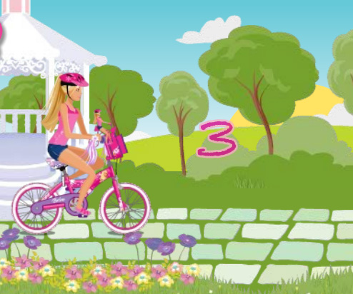 Barbie Bike game online. Screen Shot 2