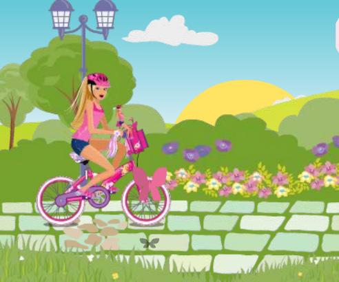 Barbie Bike game online. Screen Shot 3