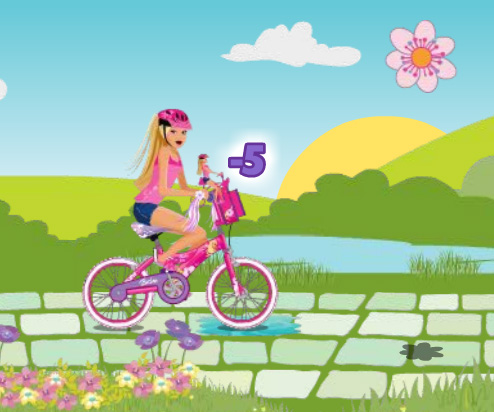 barbie cycle racing games