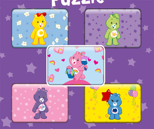 Care Bears Puzzle Party game online. Screen Shot 1