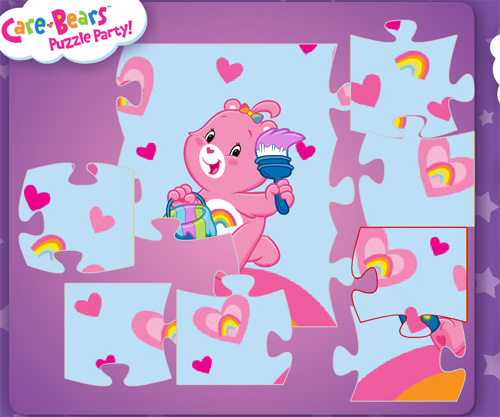 Care Bears Puzzle Party game online. Screen Shot 2