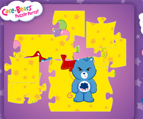 Care Bears Puzzle Party game online. Screen Shot 3