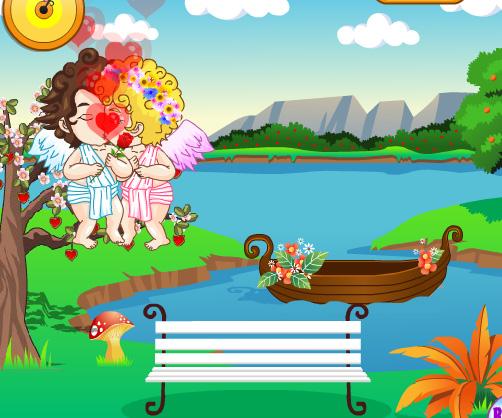 Cupids Kissing game online. Screen Shot 1