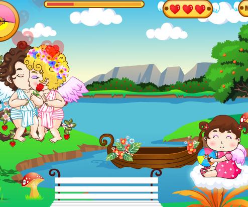 Cupids Kissing game online. Screen Shot 2