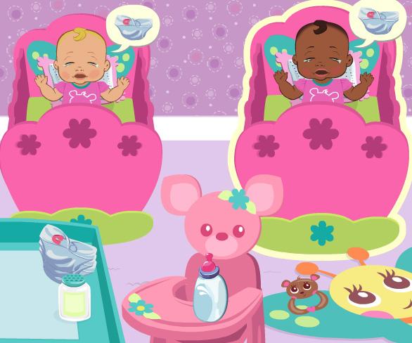 Cute Baby Nursery game online. Screen Shot 2