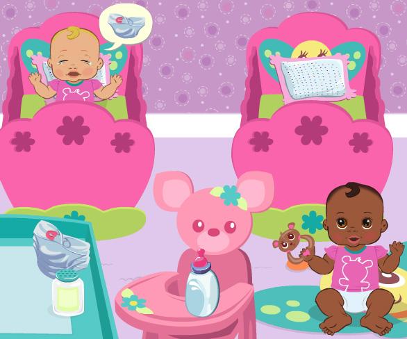 Cute Baby Nursery game online. Screen Shot 3