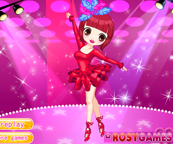 Cute Ballerina game online. Screen Shot 2