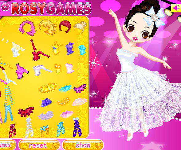 Cute Ballerina game online. Screen Shot 3
