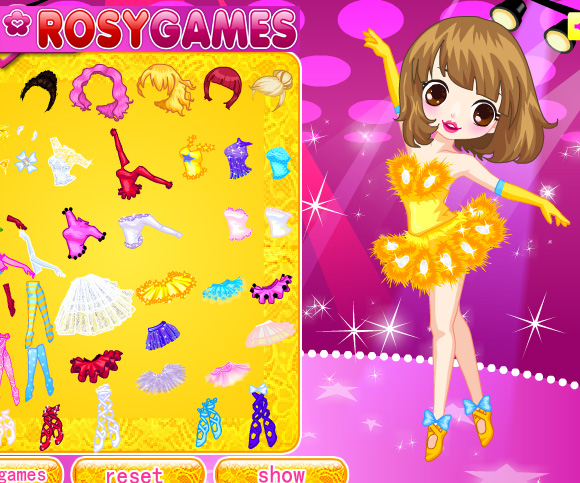 Cute Ballerina game online. Screen Shot 4