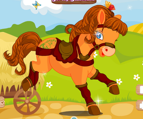 Cute Horse Dressup game online. Screen Shot 2