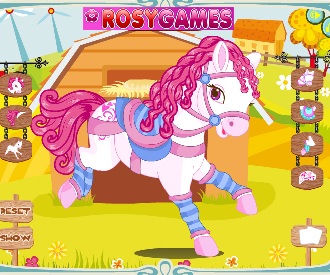 Cute Horse Dressup game online. Screen Shot 3