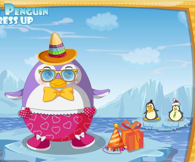Cute Penguin Dress Up game online. Screen Shot 2
