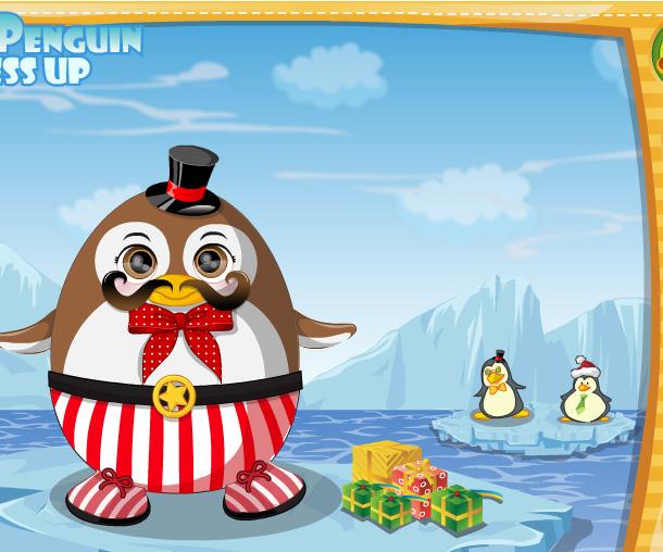 Cute Penguin Dress Up game online. Screen Shot 3