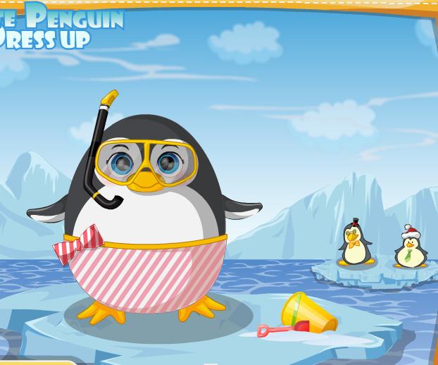 Cute Penguin Dress Up game online. Screen Shot 4