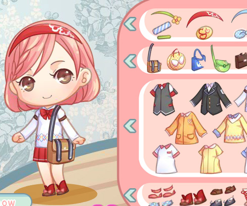 Cute Schoolgirl game online. Screen Shot 1