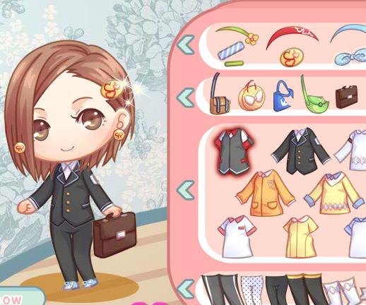 Cute Schoolgirl game online. Screen Shot 2