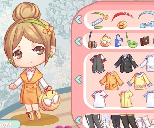 Cute Schoolgirl game online. Screen Shot 3