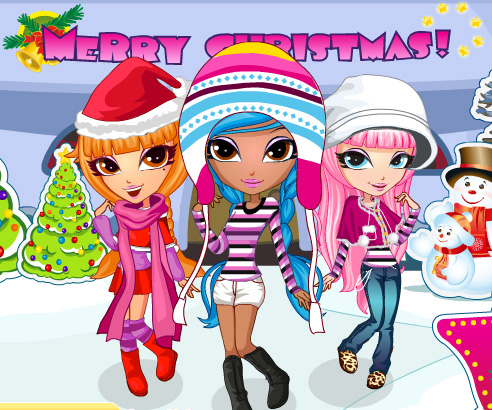 Cutie Trend Xmas Party game online. Screen Shot 1