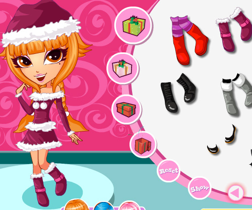 Cutie Trend Xmas Party game online. Screen Shot 2