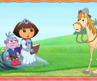 Dora Royal Rescue game online. Screen Shot 1