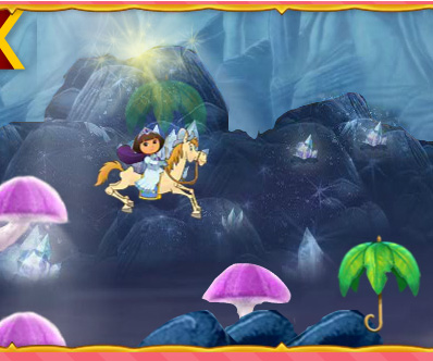 Dora Royal Rescue game online. Screen Shot 2