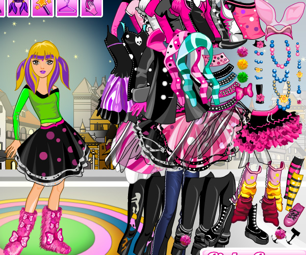 Emo Girl Dress Up game online | Girls games only