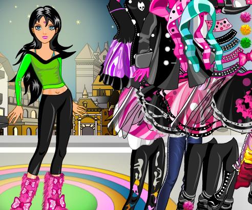 Emo Girl Dress Up game online. Screen Shot 4