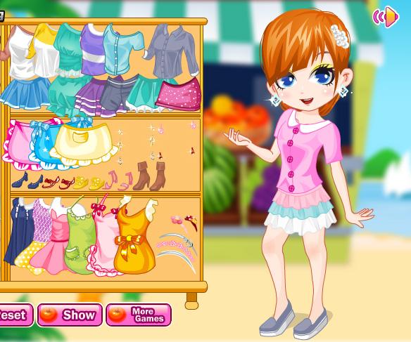 Fruit Market Girl game online. Screen Shot 1