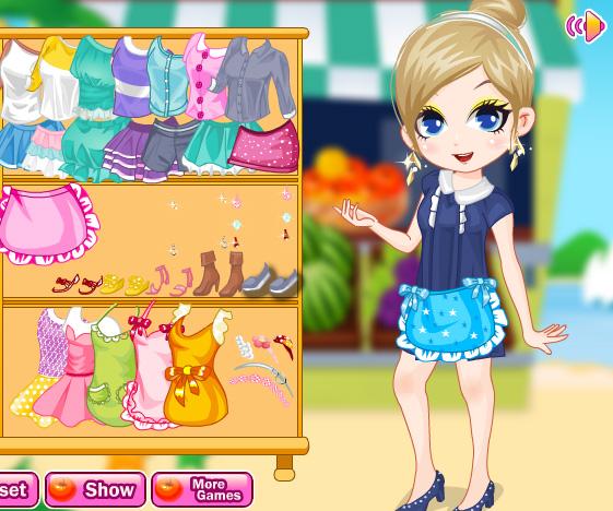 Fruit Market Girl game online. Screen Shot 2