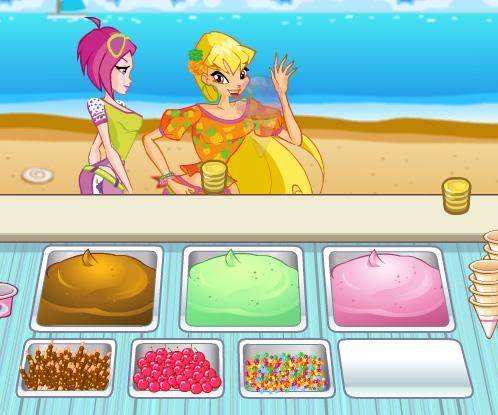 Online ice cream shop games