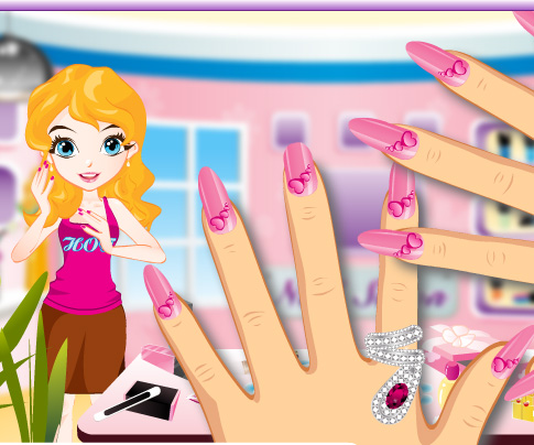 Glam Nail Studio game online. Screen Shot 4