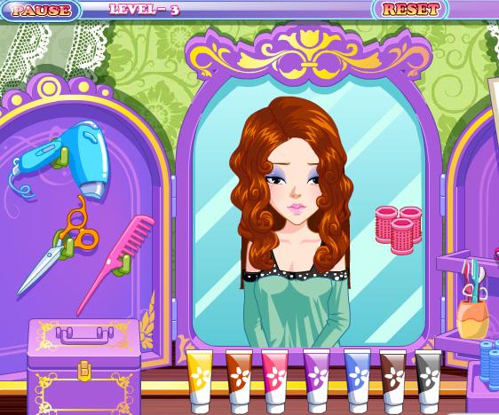 Happy Hairdesser game online. Screen Shot 4
