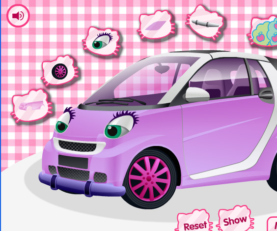 Hello Kitty Car game online. Screen Shot 1