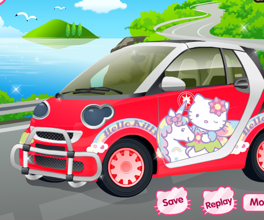 Hello Kitty Car game online. Screen Shot 3