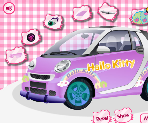 hello kitty car game online girls games only. Black Bedroom Furniture Sets. Home Design Ideas