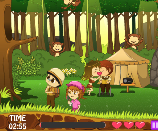 Jungle Love Story game online. Screen Shot 1