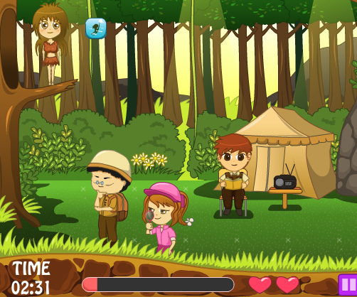 Jungle Love Story game online. Screen Shot 2