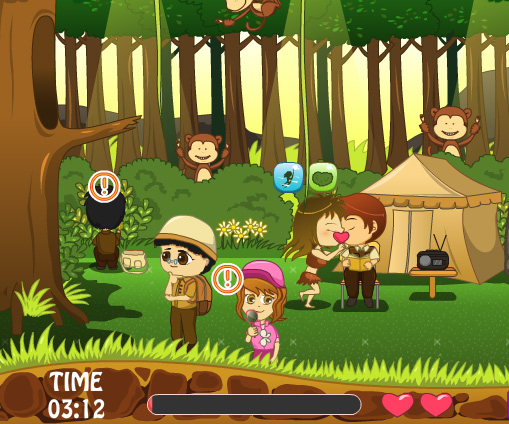 Jungle Love Story game online. Screen Shot 3
