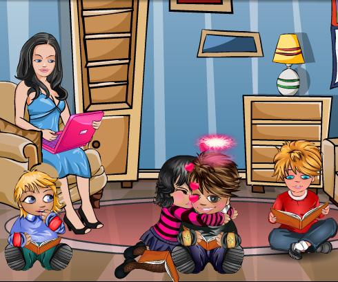 Kids Kiss game online. Screen Shot 2