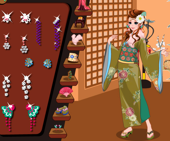 Kimono Cutie Dress Up game online. Screen Shot 3