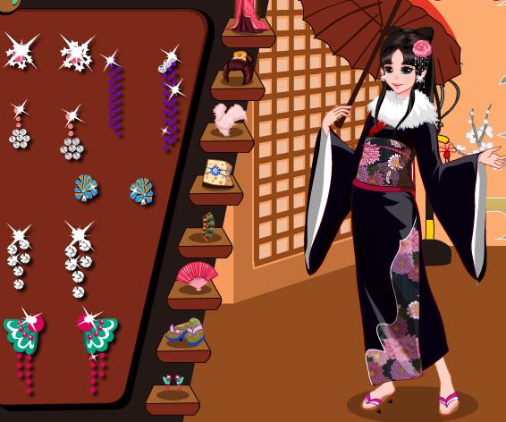 Kimono Cutie Dress Up game online. Screen Shot 4
