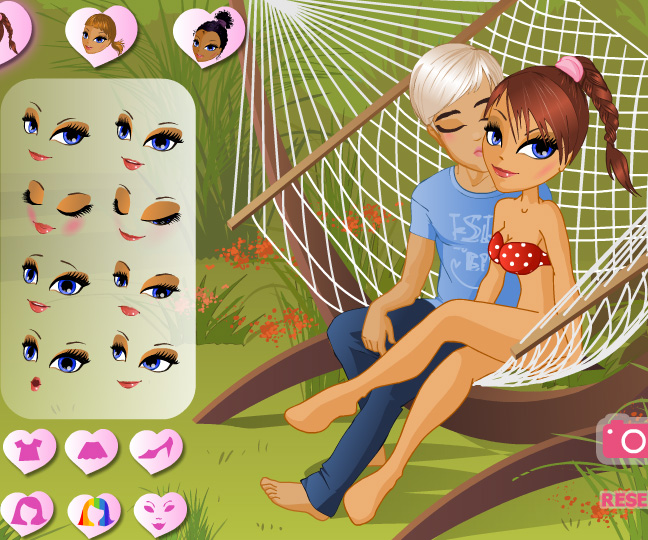 Kiss in a Hammock game online. Screen Shot 1