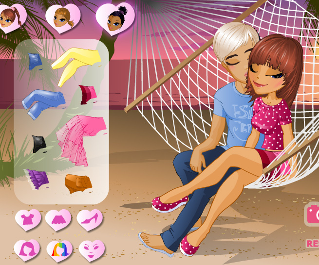 Kiss in a Hammock game online. Screen Shot 3