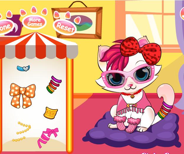 Kitten Salon game online. Screen Shot 1