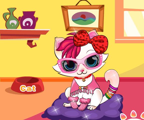 Kitten Salon game online. Screen Shot 2