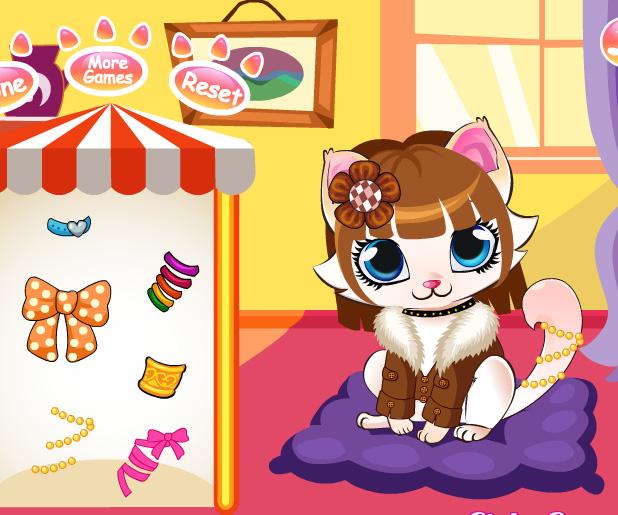 Kitten Salon game online. Screen Shot 3