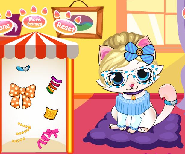 Kitten Salon game online. Screen Shot 4